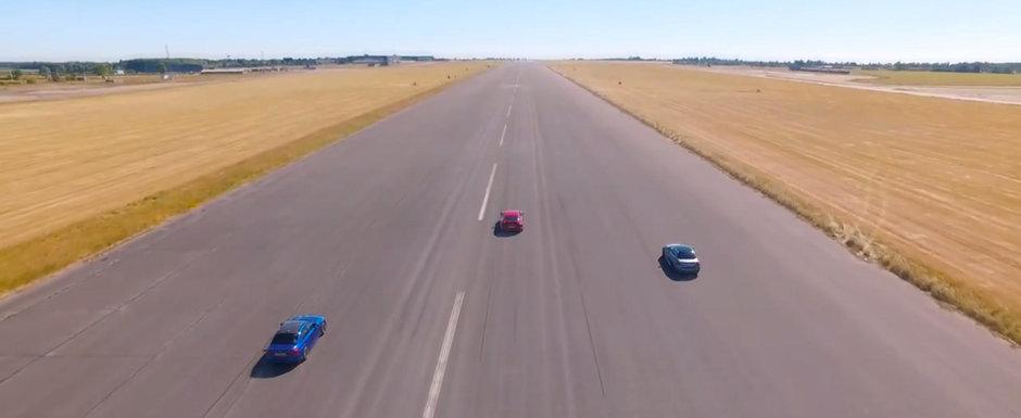 Bagi in viteza, calci acceleratia, iar 7 secunde mai tarziu gonesti cu 150 km/h. M5 si E63 nu pot tine pasul