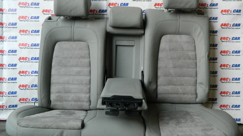 Bancheta spate din piele Alcantara cu cotiera si suport pahare VW Passat B6 variant