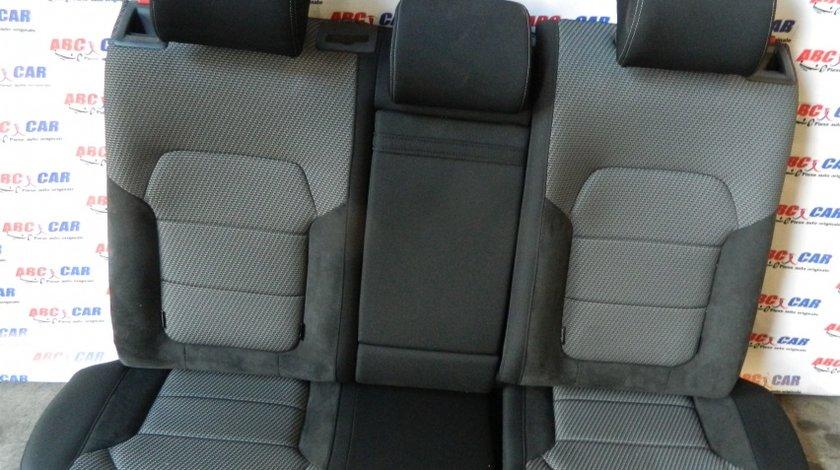 Bancheta spate din piele Alcantara + material VW Passat B7 variant