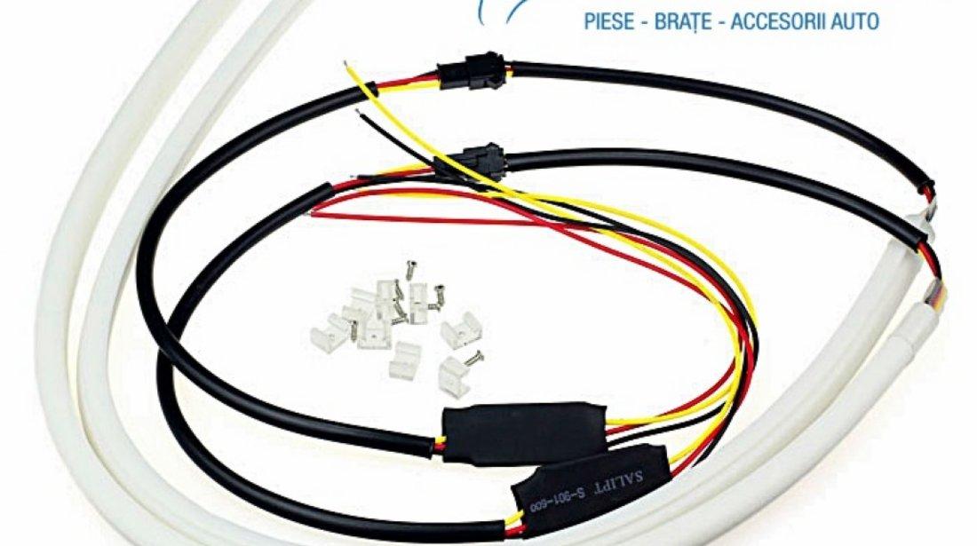 BANDA CU LEDURI 2 X 60cm - produce lumina uniforma ALB + semnal Galben