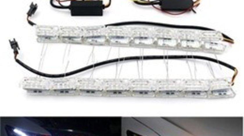 Banda LED-DRL premium L10FLOW cu semnalizare dinamica VistaCar
