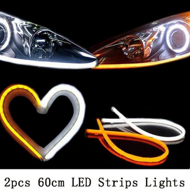 Banda neon flexibila cu lumina de zi si semnalizare 60cm