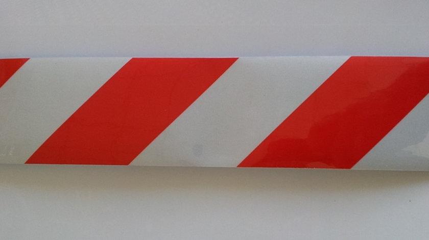Banda reflectorizanta Alb-Rosu 30cm x 5cm (set/2buc) VistaCar