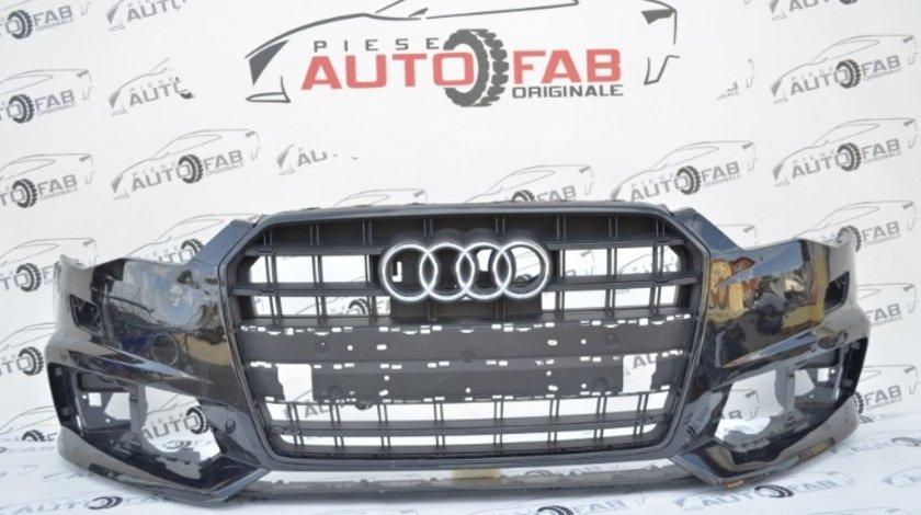 Bară față Audi A6 4G Facelift S-line an 2015-2018 cu găuri pentru Parktronic şi spălătoare faruri