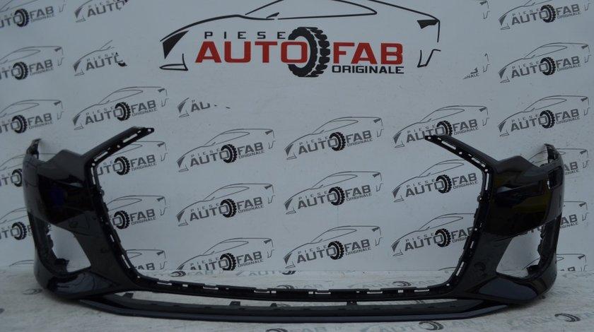 Bară față Audi A6 4K an 2018-2020 cu găuri pentru Parktronic şi spălătoare faruri (6 senzori)