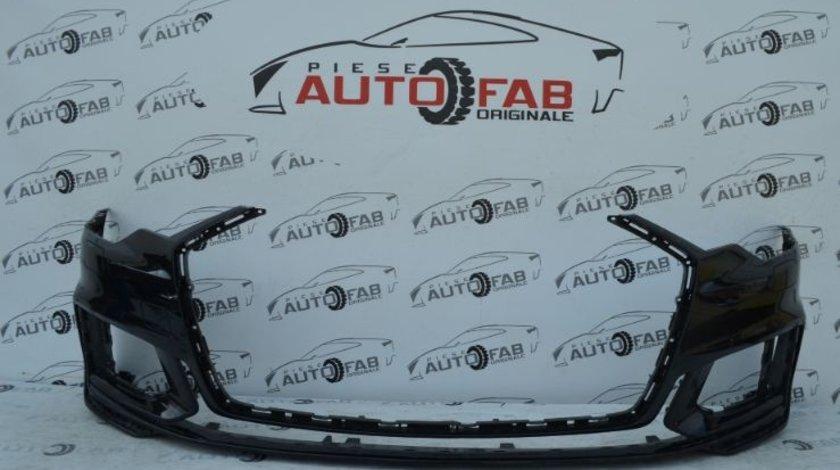 Bară față Audi A6 4K S-Line an 2018-2019 cu găuri pentru Parktronic şi spălătoare faruri (6 senzori)