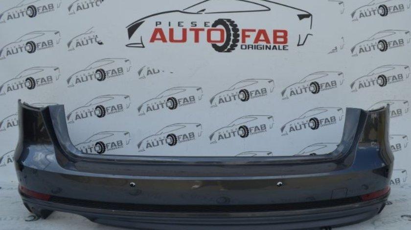 Bară spate Audi A4 B9 S-line Combi an 2016-2019 cu găuri pentru Parktronic(6 senzori)