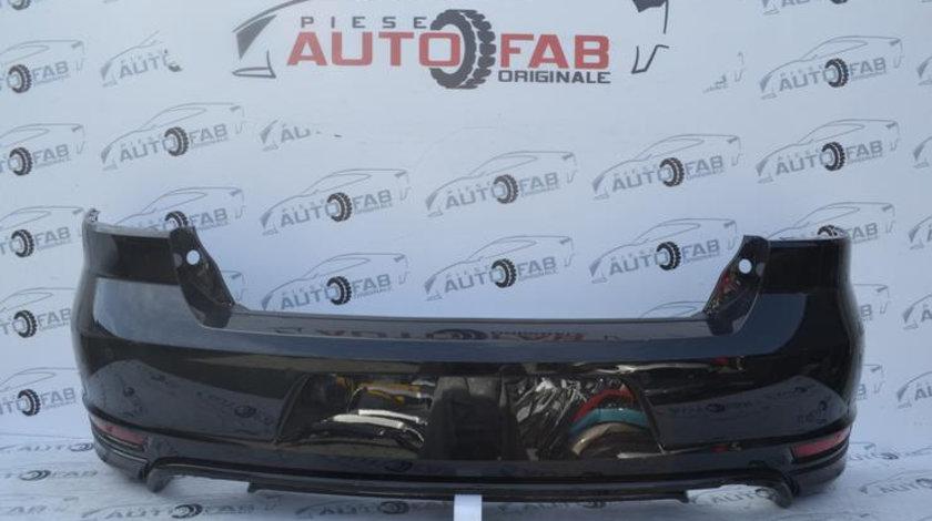 Bară spate Volkswagen Golf 6 Cabrio GTI Completă an 2009-2013 cu găuri pentru Parktronic, include instalație senzori și iluminare număr