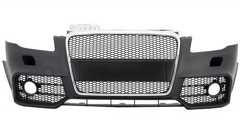 Bara Fata Audi A4 B7 (04-08) RS4 Design Negru Crom