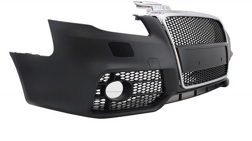Bara Fata Audi A4 B7 (04-08) RS4 Design Negru Crom fara proiectoare