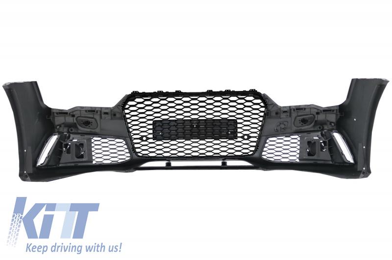 Bara Fata Audi A7 4G Facelift (2015-2018) RS7 Design cu Grile KTX2-FBAUA74GFRSWOG