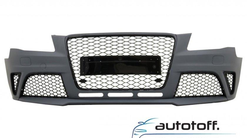 Bara Fata cu Difuzor Bara Spate si Ornamente Evacuare Audi A4 B8 Pre-Facelift (2008-2011) RS4 Design