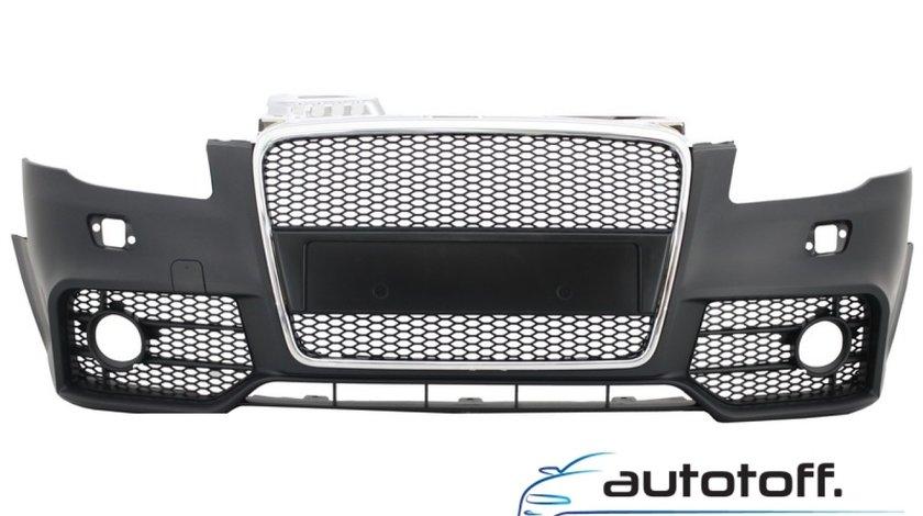 Bara Fata cu Grila Centrala Audi A4 (B7) Facelift (2004-2008) RS4 Crom si Negru Design