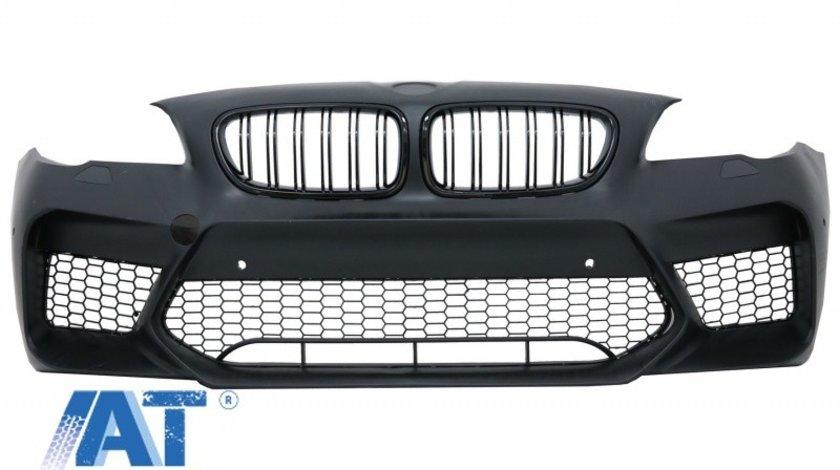 Bara Fata Echipata cu Grile Centrale compatibila cu BMW Seria 5 F10 F11 (2011-2017) M5 G30 Design