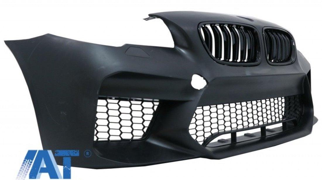 Bara Fata Echipata cu Grile Centrale compatibila cu BMW Seria 5 F10 F11 (2011-2017) M5 G30 Design Fara PDC
