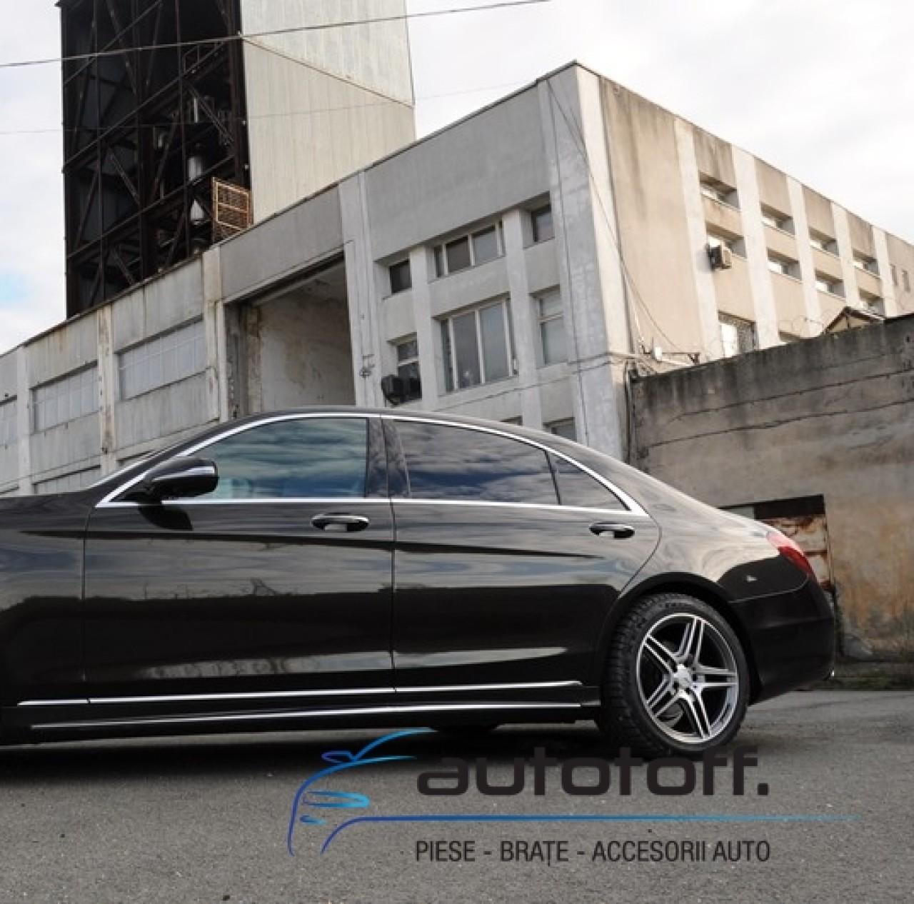 Bara Fata Mercedes Benz W222 S-Class (2013-up) S65 AMG Design cu Praguri Laterale
