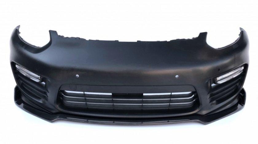 Bara Fata + Prelungire Lip Carbon Am Porsche Panamera 970 2013-2016 Facelift Turbo Gts Completa