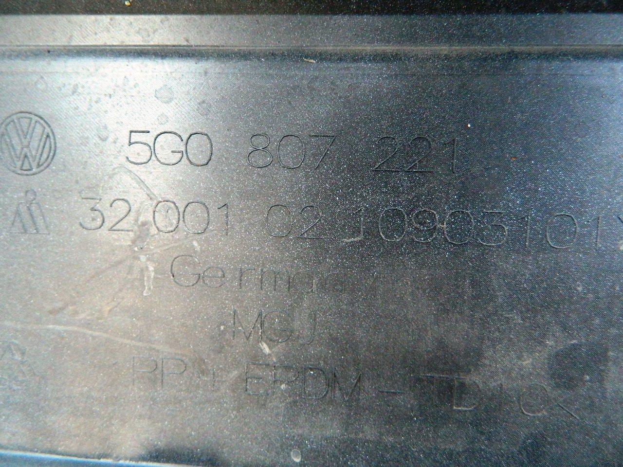 Bara fata VW Golf 7 cod 5G0807221
