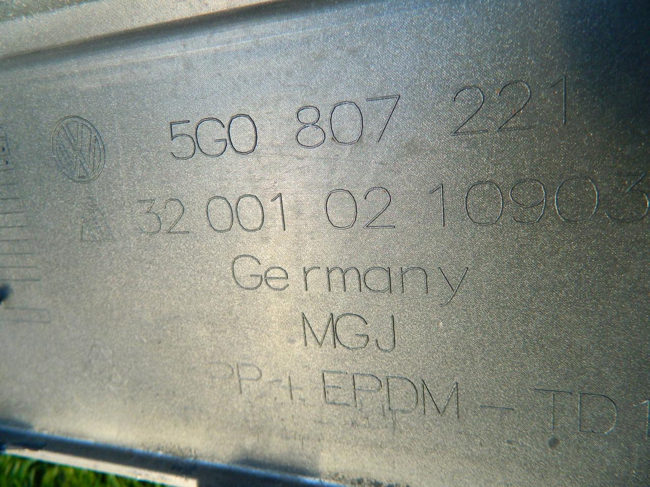 Bara fata VW Golf 7 originala cod 5G0807221