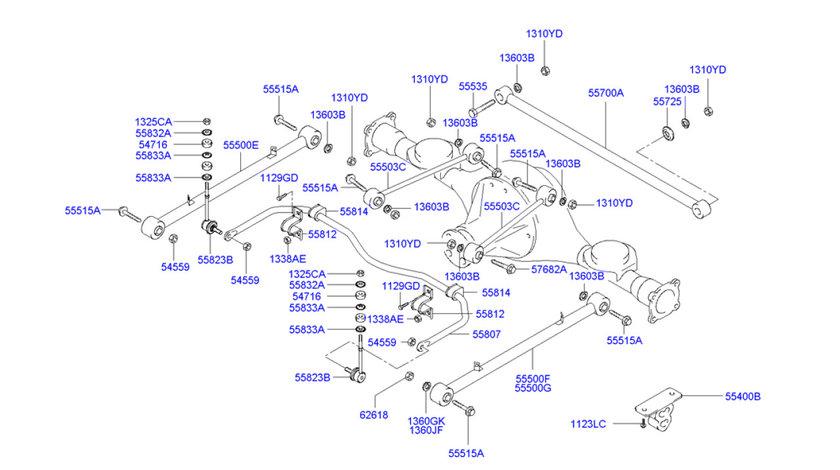 Bara Panhard punte spate Hyundai Terracan HYUNDAY OE 55700-H1000