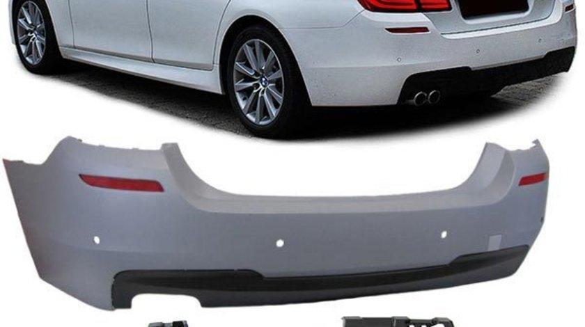 Bara spate BMW F10 Sedan 2010-2013 cu loc PDC si Difuzor in partea Stanga