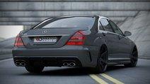 Bara spate Mercedes S W221 model W205-Look fibra d...