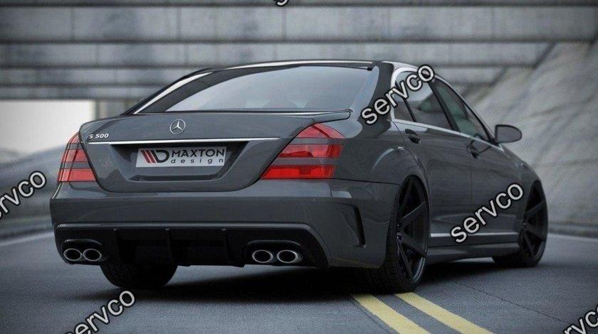 Bara spate si difuzor Mercedes S Class W221 W205 Look 2005-2013 v1
