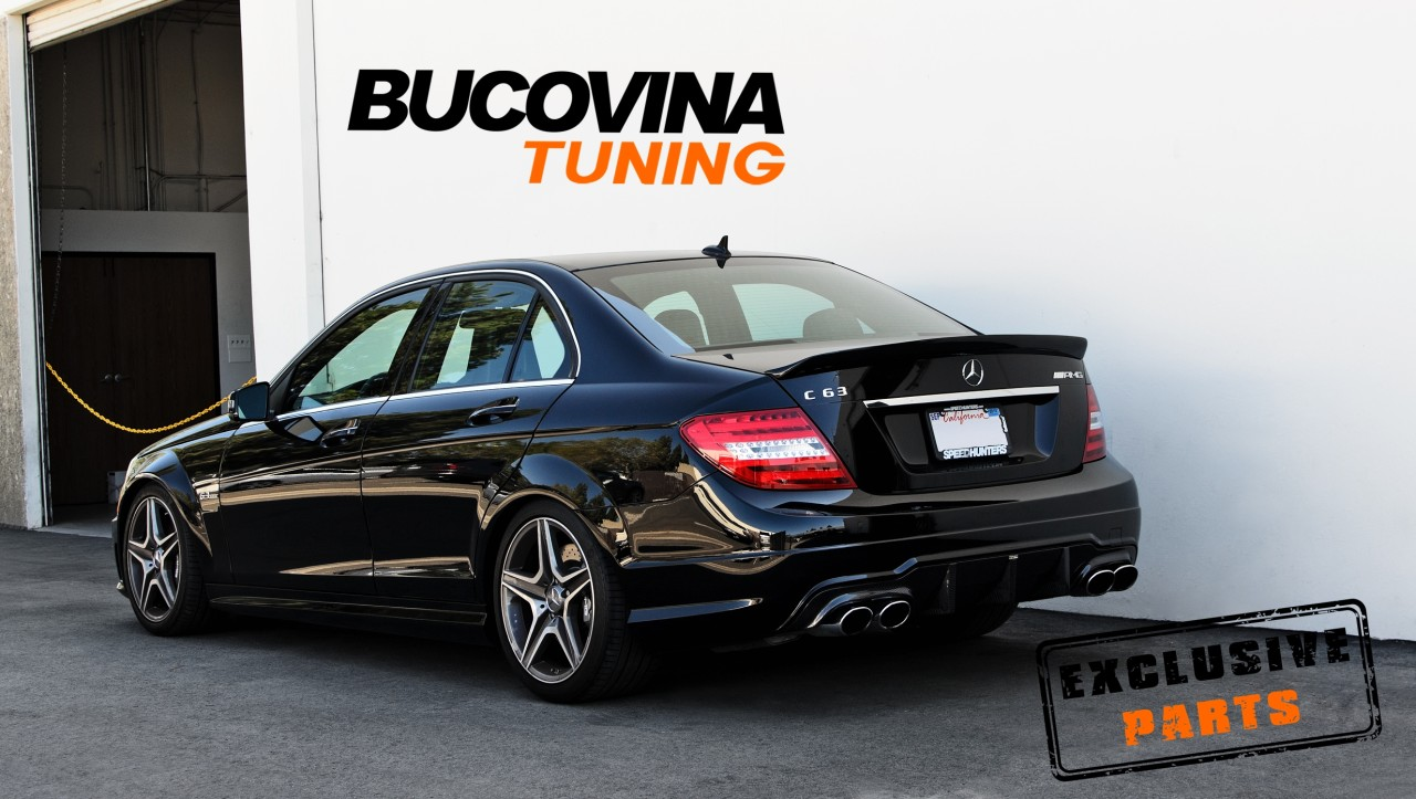 Bara spate si ornamente evacuare Mercedes Benz W204 Facelift (07-14)