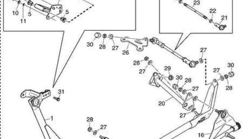 Bara timonerie cu capete bara schimbator viteze Scania (poz.13) SAMPA 1543601
