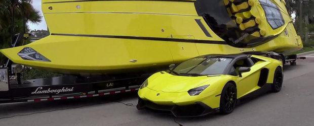 Barca perfecta pentru posesorii de Lamborghini Aventador