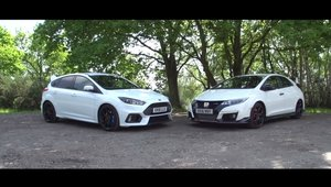 Batalia asteptata de multi fani ai hot-hatch-urilor: Ford Focus RS fata in fata cu Honda Civic Type R