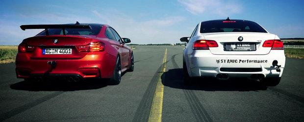 Batalia evacuarilor: BMW M3 92 vs. BMW M4 F82. Care suna mai bine?
