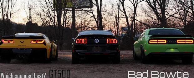 Batalia evacuarilor: Corvette Z06 vs Shelby GT500 vs Dodge Hellcat