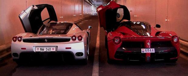 Batalia evacuarilor: Ferrari Enzo vs Ferrari LaFerrari. Care suna mai bine?