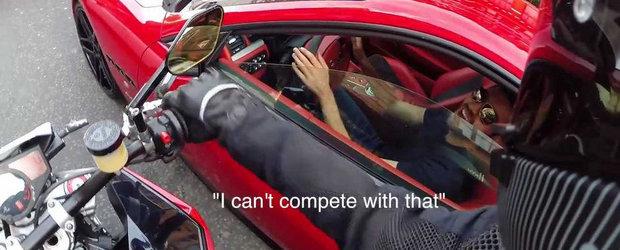 Batalia evacuarilor: Maserati GranTurismo vs. Husqvarna Nuda 900R