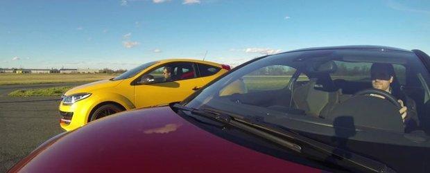 Batalia francezilor: Peugeot RCZ-R vs. Renault Megane RS. Cine e mai rapid in linie dreapta?