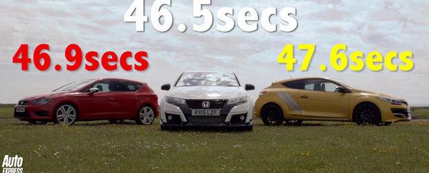 Batalia hot-hatch-urilor: Noul Civic Type R isi intalneste rivalii pe circuit