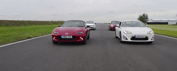 Batalia masinilor sport accesibile: Mazda MX-5 vs Mini JCW vs Clio RS vs Toyota GT86