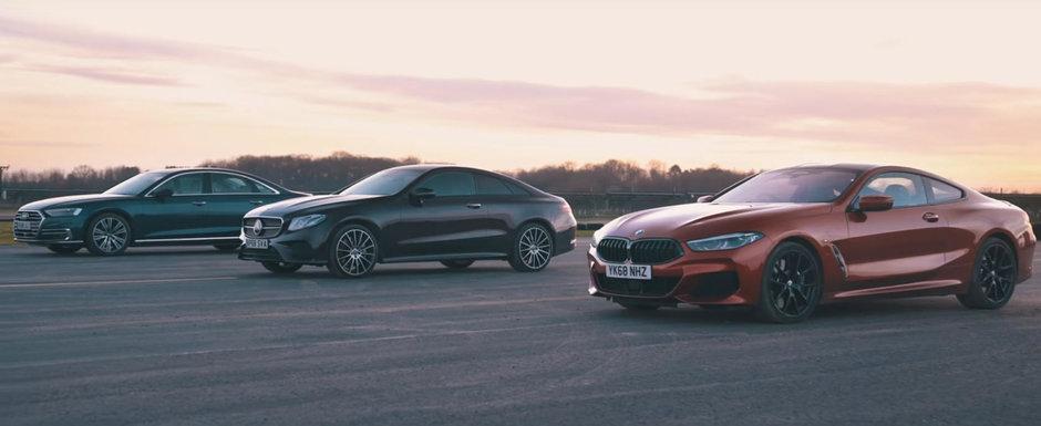 Batalia motoarelor de 3.0 litri DIESEL. Liniuta cu BMW Seria 8, Mercedes E-Class si Audi A8