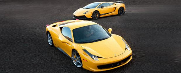 Batalia pentru coroana: Ferrari 458 Italia versus Lamborghini Gallardo LP570-4 Superleggera