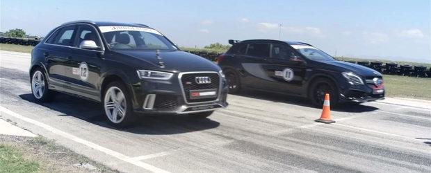 Batalia super-crossover-elor: Audi RS Q3 versus Mercedes GLA45 AMG