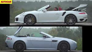 Batalia super-decapotabilelor: AM V12 Vantage S vs. Porsche 911 Turbo S