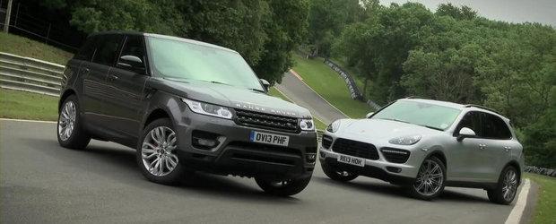 Batalia super-SUV-urilor: Range Rover Sport Supercharged versus Porsche Cayenne Turbo
