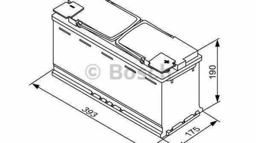 baterie acumulator AUDI Q5 8R BOSCH 0 092 S5A 150