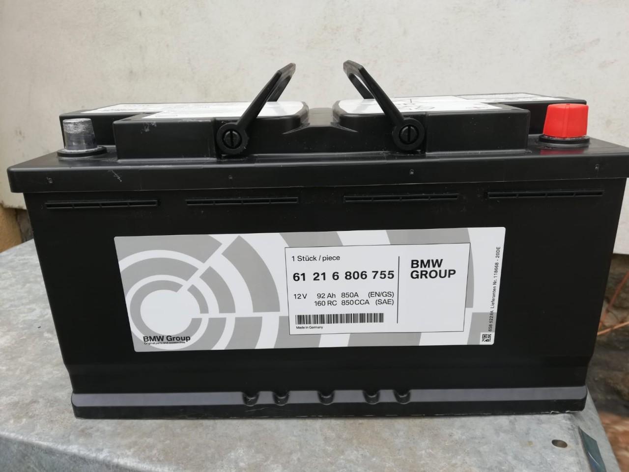 Baterie,acumulator auto NOU original BMW 92Ah cu 850Aen AGM