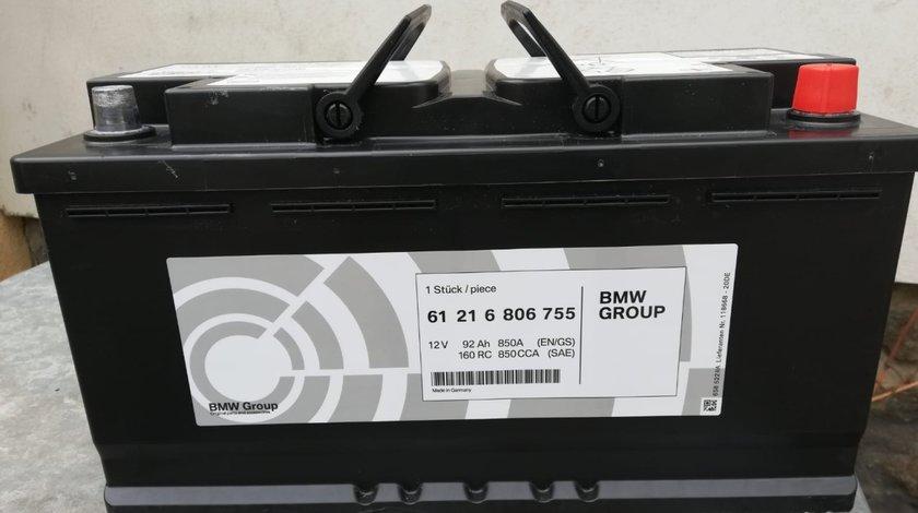 Baterie,acumulator auto NOU original BMW 92Ah cu 850Aen AGM,nov.2019