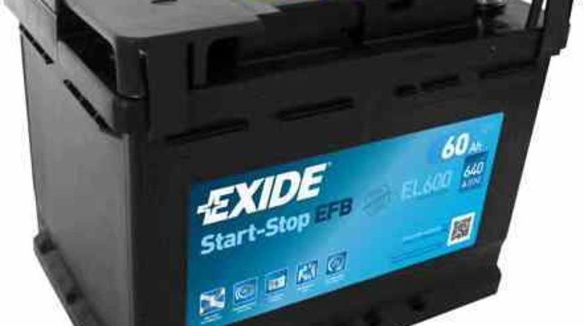 baterie acumulator CHEVROLET AVEO limuzina T300 EXIDE EL600