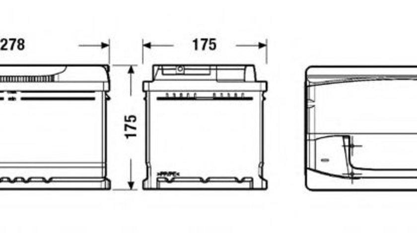 Baterie de pornire ALFA ROMEO GT (937) (2003 - 2010) EXIDE _EA722 piesa NOUA