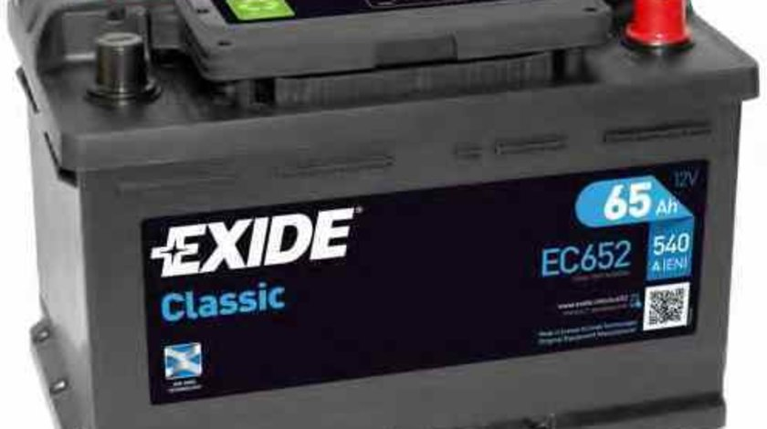 Baterie de pornire AUDI 80 (8C, B4) Producator EXIDE EC652