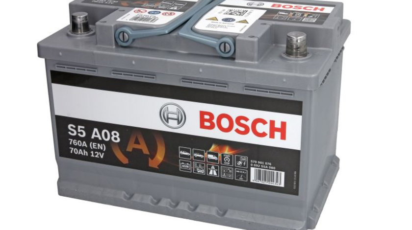 Baterie de pornire AUDI A1 (8X1, 8XK, 8XF) (2010 - 2016) BOSCH 0 092 S5A 080 piesa NOUA